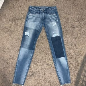 American Eagle Patchwork Jeans